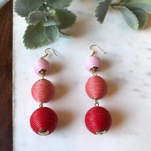 Jewelry - The Molly - Pink/Red 3-Drop Statement Earrings